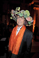 DAVID SHILLING at Hats - an antology of Stephen Jones held at the V&A, London on 23rd February 2009.