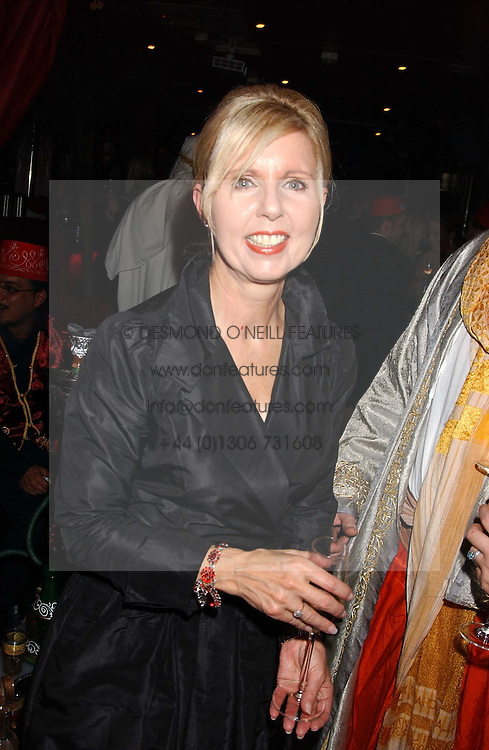MARIA KEMPINSKA founder of Jongleurs at a party to celebrate the recent merger of Chelsea Mortgage Management with Cobalt Capital - A Night in Marrakesh held at Raffles, nightclub, Kings Road, London on 1st December 2005.<br />