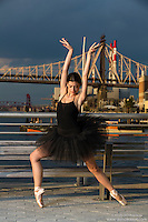 New York City Dance Photography- Dance As Art Gantry State Park with ballerina Dioni Georgitsou en pointe.