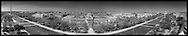 Panoramic photo of Smithsonian Mall as seen from atop the Smithsonian Castle.  The Smithsonian Museum of Natural History is shown in center with The Washington Monument and US Capitol at each end.  Print Sizes (in inches): 15x3; 24x5; 36x7; 48x9; 60x11.5; 72x14.