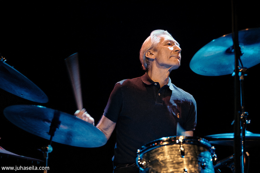 The Rolling Stones drummer at Tavastia Club, Helsinki. April 3, 2011. The band at this time was ABC&D of Boogie Woogie.