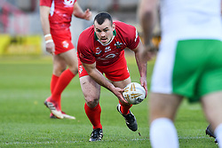 11th November 2018 , Racecourse Ground,  Wrexham, Wales ;  Rugby League World Cup Qualifier,Wales v Ireland ; Steve Parry of Wales in action<br /> <br /> <br /> Credit:   Craig Thomas/Replay Images