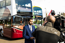 Pictured: Humza Yousaf<br /> Transport minister Humza Yousaf unveiled details of   Going Forward - Scotland's Accessible Travel Framework in Edinburgh today. The blueprint, which has been co-produced by Transport Scotland, disabled people's organisations, local government, transport providers and operators. <br /> <br /> <br /> Ger Harley | EEm 21 September 2016