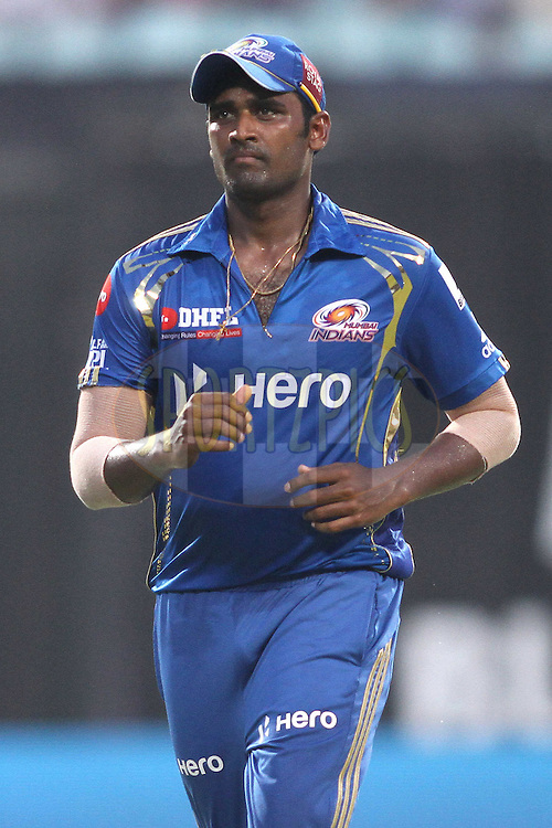 Thisara Perera of the Mumbai Indians during match 58 of the the Indian Premier League (IPL) 2012  between The Kolkata Knight Riders and The Mumbai Indians held at the Eden Gardens Stadium in Kolkata on the 12th May 2012..Photo by Shaun Roy/IPL/SPORTZPICS