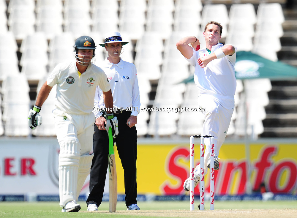 Dale Steyn of South Africa bowling <br /> &copy; Barry Aldworth/Backpagepix