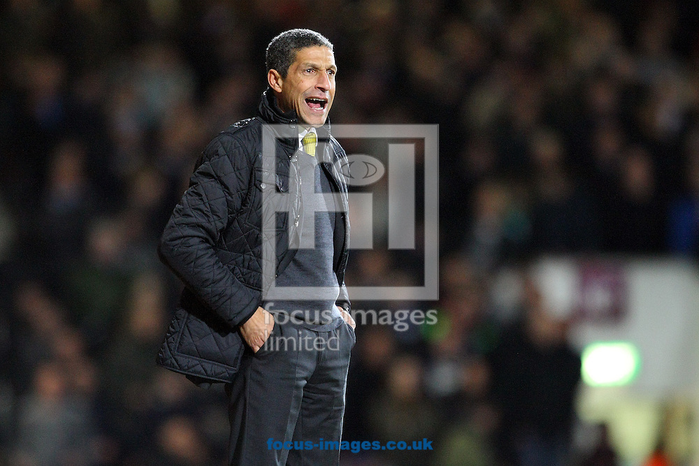 Picture by Paul Chesterton/Focus Images Ltd +44 7904 640267<br /> 11/02/2014<br /> Norwich Manager Chris Hughton during the Barclays Premier League match at the Boleyn Ground, London
