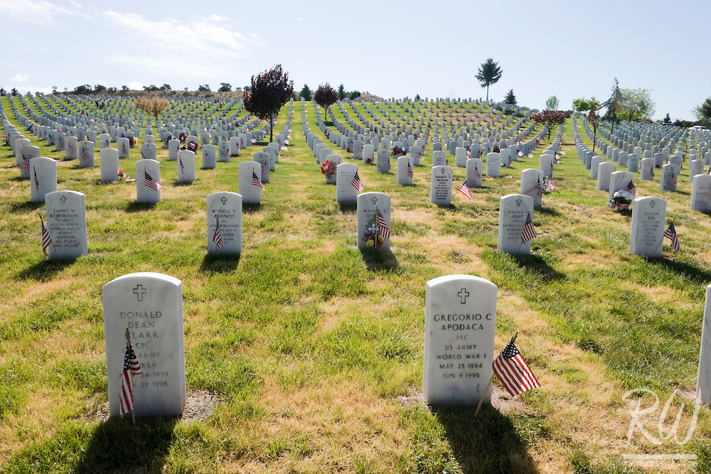 Memorial Day at Santa Fe National Cemetery, New Mexico