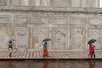 Taj Mahal on a rainy day. Agra, India.