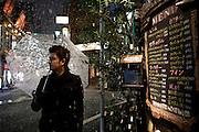 Ben during an evening with snow in Shinjuku Sanchoume.