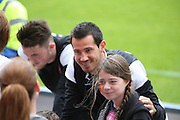 Getting a picture with Ryan McGowan - Dundee United open day at Tannadice<br /> <br /> <br />  - &copy; David Young - www.davidyoungphoto.co.uk - email: davidyoungphoto@gmail.com