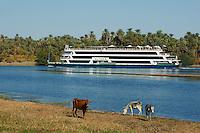 Egypte, Haute Egypte, croisiere sur le Nil entre Louxor et Assouan, bateau de croisiere // Egypt, cruise on the Nile river between Luxor and Aswan, cruise boat