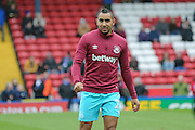 West Ham United midfielder Dimitri Payet  during the The FA Cup match between Blackburn Rovers and West Ham United at Ewood Park, Blackburn, England on 21 February 2016. Photo by Simon Davies.