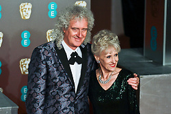 Brian May on the red carpet ahead of the 2019 British Academy Film Awards at the Royal Albert Hall in London, England on 10th Feburary 2019. ©Ben Booth/Edinburgh Elite media