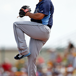 March 22, 2012; Bradenton, FL, USA; Tampa Bay Rays starting pitcher James Shields (33) throws against the Pittsburgh Pirates during the bottom of the first inning of a spring training game at McKechnie Field. Mandatory Credit: Derick E. Hingle-US PRESSWIRE