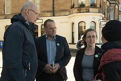 Green MSP Andy Wightman and other Green Party activists joined local Green candidate Mary Campbell for some last minute campaigning on Portobello Prom Pictured: Andy Wightman MSP and Mary Campbell<br /> <br /> <br /> © Jon Davey/ EEm