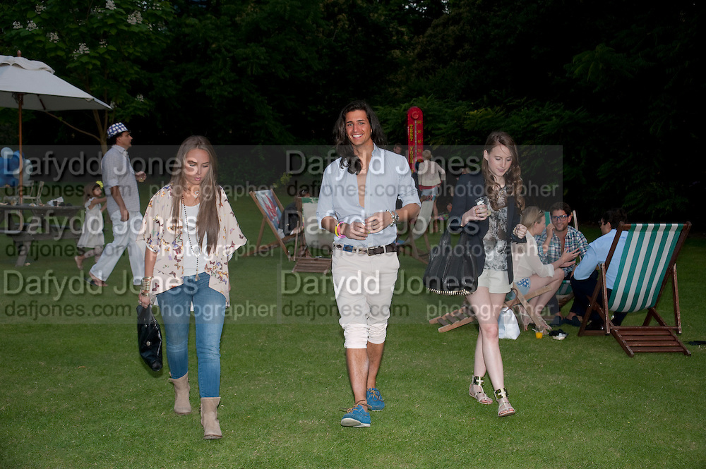 CHLOE GREEN; OLLIE LOCK, Chucs Dive &amp; Mountain Shop charity Swim Party: Lido at The Serpentine. London. 4 July 2011. <br /> <br />  , -DO NOT ARCHIVE-&copy; Copyright Photograph by Dafydd Jones. 248 Clapham Rd. London SW9 0PZ. Tel 0207 820 0771. www.dafjones.com.
