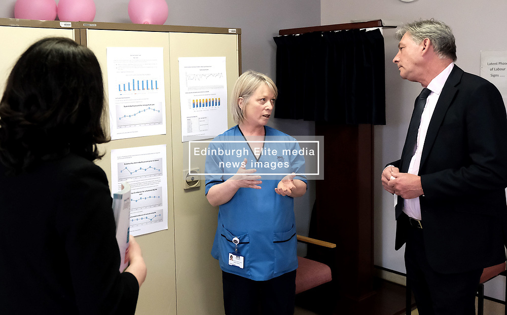 """Scottish Labour leader Richard Leonard and Health spokesperson Monica Lennon met with midwives in NHS Lanarkshire, ahead of a Scottish Labour debate which calls on the SNP Government to invest an additional £10 million for the implementation of Best Start and to investigate claims that midwives are not being given sufficient resources to do their jobs.<br /> <br /> Scottish Labour will use parliamentary time this week to call on the SNP Government to investigate reports that midwives do not have enough resources to do their jobs safely.<br /> <br /> Concerns have been raised in an open letter by midwives in NHS Lothian, which claim they do not have enough computers, equipment and pool cars.<br /> <br /> Scottish Labour have also called for an additional £10 million to be allocated towards the implementation of the Best Start recommendations, to ensure that midwives are given adequate time, training and resources.<br /> <br /> Scottish Labour Health Spokesperson Monica Lennon said:<br /> <br /> """"Midwives play a crucial role in caring for women and babies. The best way of recognising their contribution to our NHS is by making sure they have enough resources to do their jobs safely.<br /> <br /> """"That's why Scottish Labour is calling on the SNP Government to investigate reports about a lack of equipment and resources, and to provide an additional £10 million towards the implementation of the Best Start recommendations.<br /> <br /> """"The Health Secretary must listen to the concerns of midwives and take urgent action to address the workforce crisis.""""<br /> <br /> Pictured: Richard Leonard and Monica Lennon chat to consultant midwife Maureen McSherry<br /> <br /> Alex Todd 