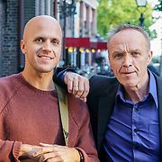 NLD/Den Bosch/20190515 - Nederland staat op tegen Kanker 2019, Milow, echte naam Jonathan Ivo Gilles Vandenbroeck met Stef Bos