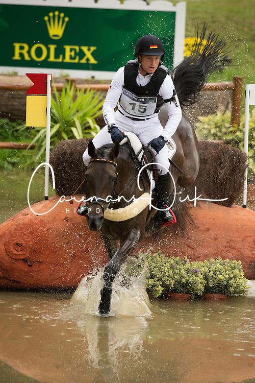 Michael Jung, (GER), Fischerrocana FST - Eventing Cross - Alltech FEI World Equestrian Games™ 2014 - Normandy, France.<br /> © Hippo Foto Team - Dirk Caremans