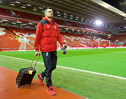 LIVERPOOL, ENGLAND - Wednesday, March 2, 2016: Liverpool's Dejan Lovren arrives before the Premier League match against Manchester City at Anfield. (Pic by David Rawcliffe/Propaganda)