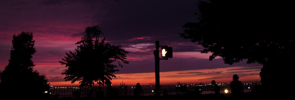 Sunset on Shore Road, Brooklyn, NY.