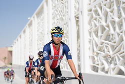 Carmen Small (USA) at the 134 km Elite Women's Road Race, UCI Road World Championships 2016 on 15th October 2016 in Doha, Qatar. (Photo by Sean Robinson/Velofocus).