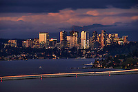Bellevue Skyline @ Sunset on Lake Washington