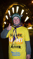Roan Downes , Kinvara at the Darkness into Light Kinvara Galway which saw double the numbers of last year out at 4.15 am to walk into the light in aid of Pieta House.<br />  Photo:Andrew Downes, xposure.