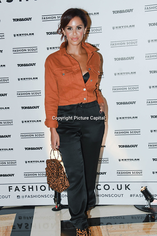 Shanie Ryan  is a TV Presenter  and Presenter, Capital xtra radio attend Fashion Scout - SS19 - London Fashion Week - Day 2, London, UK. 15 September 2018.