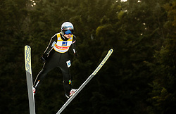 Maren Lundby of Norway soaring through the air during 1st Round at Day 1 of World Cup Ski Jumping Ladies Ljubno 2019, on February 8, 2019 in Ljubno ob Savinji, Slovenia. Photo by Matic Ritonja / Sportida