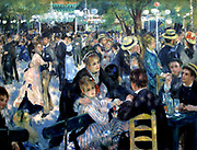 Pierre August Renoir (1841-1919) French painter . Dance at Le Moulin de la Galette (Bal du moulin de la Galette), 1876 Oil on canvas