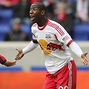 Bradley Wright-Phillips, New York Red Bulls, in action during the New York Red Bulls V Chivas USA, Major League Soccer regular season match at Red Bull Arena, Harrison, New Jersey. USA. 30th March 2014. Photo Tim Clayton