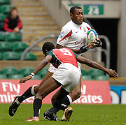 Twickenham, England. England's Isoa DAMU, during the ENG vs KENYA match at the London Sevens Rugby, Twickenham Stadium, Sun, 27/05/2007 [Credit Peter Spurrier/ Intersport Images]