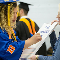 Spring Commencement, Graduation, Albertsons Stadium, Allison Corona photo.