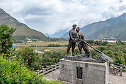 Chinese Red Army Monument at the First Bend of the Yangtze River at Shigu, Yulong County, Yunnan, China