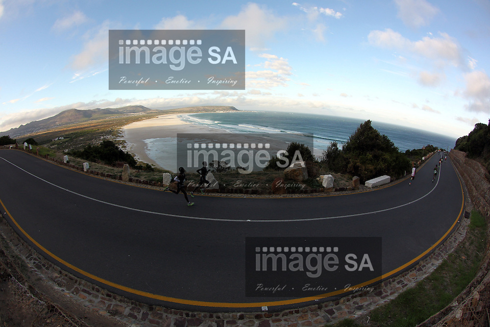 CAPE TOWN, South Africa - Saturday 30 March 2013, The start of Chapmans Peak during the ultra marathon of the Old Mutual Two Oceans Marathon. .Photo by Greg Beadle/ ImageSA