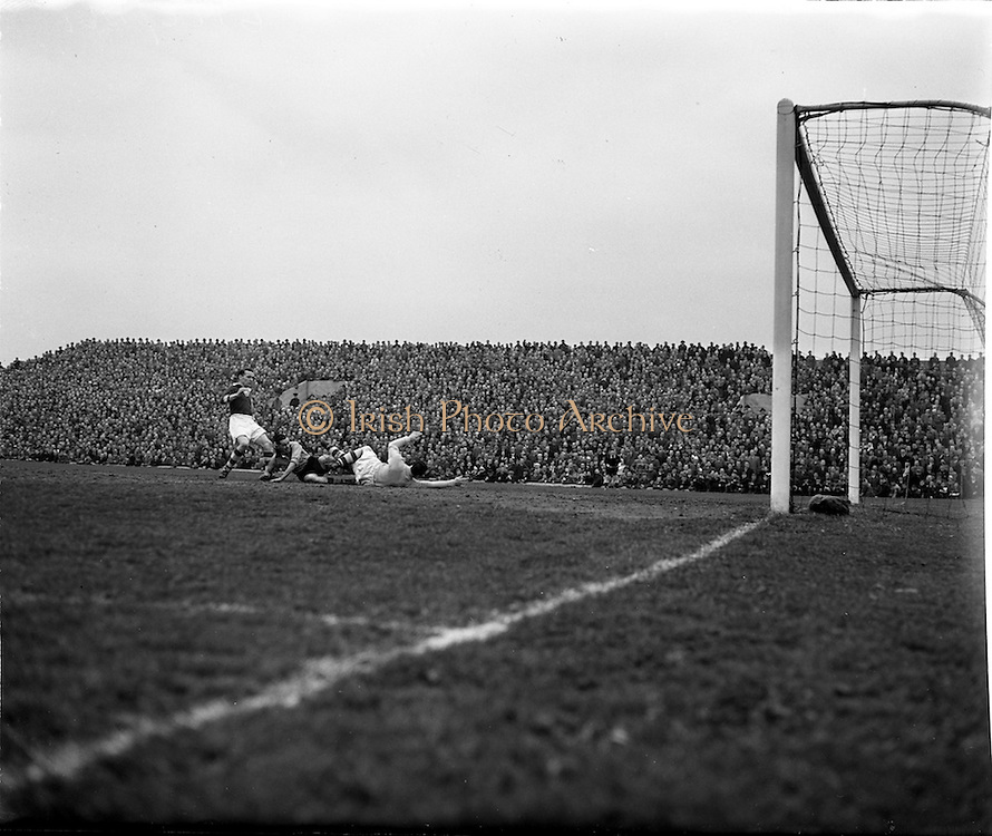 26/4/1953<br /> 4/26/1953<br /> 26 April 1953 <br /> FAI Cup Final, Cork v Evergreen, at Dalymount Park, Dublin. The game ended in a 2-2 draw.