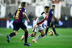 November 3, 2018 - Madrid, MADRID, SPAIN - Santi of Rayo during the Spanish Championship, La Liga, football match between Rayo Vallecano and FC Barcelona on November 03th, 2018 at Estadio de Vallecas in Madrid, Spain. (Credit Image: © AFP7 via ZUMA Wire)