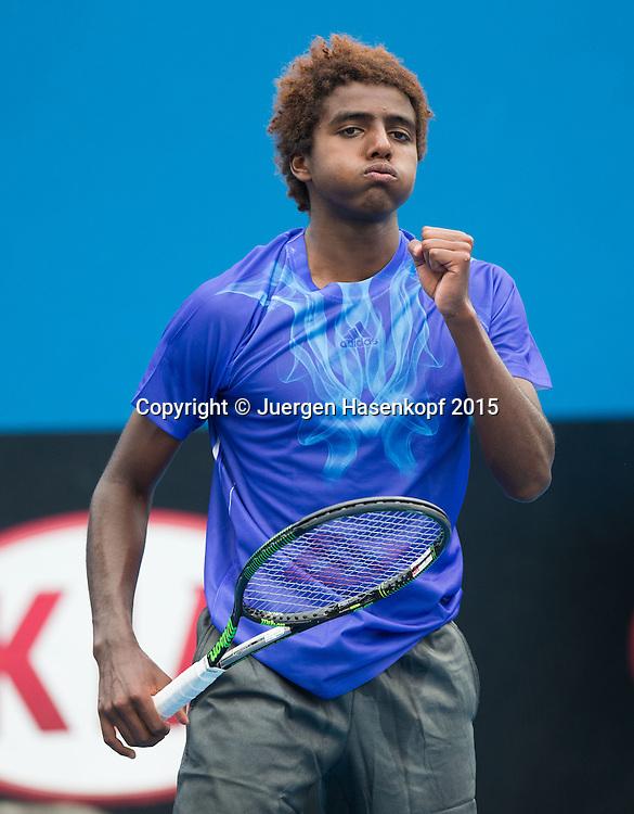 Elias Ymer (SWE)<br /> <br />  - Australian Open 2015 -  -  Melbourne Park Tennis Centre - Melbourne - Victoria - Australia  - 20 January 2015. <br /> &copy; Juergen Hasenkopf