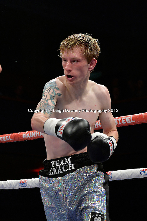 Jay Harris defeats Ricky Leach (pictured) in a Flyweight contest at Wolverhampton Civic Hall, Wolverhampton, 1st August 2014. Frank Warren in association with PJ Promotions.  © Credit: Leigh Dawney Photography.