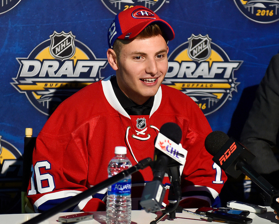Victor Mete at the 2016 NHL Draft in Buffalo, NY on Saturday June 25, 2016. Photo by Aaron Bell/CHL Images