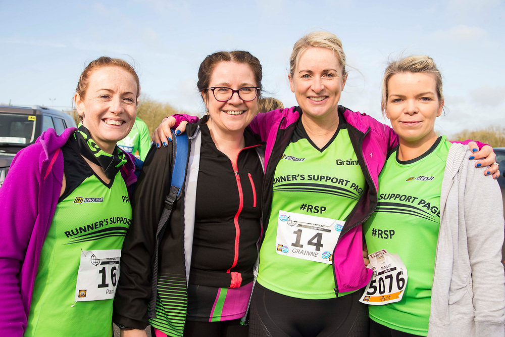 12/03/2017, Bohermeen AC 10k road Race & Half Marathon<br /> Pictured at the event, L-R, Pam O`Rourke, Frances Browne, Grainne Cahill & Ruth Friel<br /> <br /> David Mullen / www.cyberimages.net<br /> ISO: 250; Shutter: 1/250; Aperture: 7.1; <br /> File Size: 2.5MB<br /> Actuations: