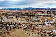 Desert landscapes in the southwestern United States in winter.