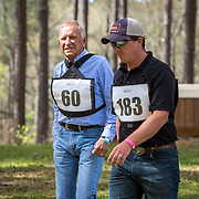 Eventing legend, Bruce Davidson and John Michael Durr walking the cross-country course at the Red Hills International Horse Trials in Tallahassee, Florida.