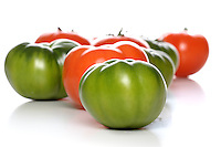 Studio shot of tomatoes on white background