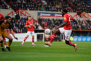 Anthony Grant of Swindon Town in action during the EFL Sky Bet League 2 match between Swindon Town and Port Vale at the County Ground, Swindon, England on 25 January 2020.