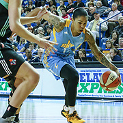 Chicago Sky Forward Tamera Young (1) drives to the basket during a WNBA preseason basketball game between the Chicago Sky and the New York Liberty Sunday, May. 01, 2016 at The Bob Carpenter Sports Convocation Center in Newark, DEL Photo By Saquan Stimpson