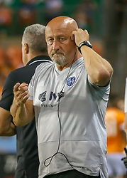 August 4, 2018 - Houston, TX, U.S. - HOUSTON, TX - AUGUST 04:  Sporting KC assistant coach Zoran Savic deploys medical staff to the pitch during the soccer match between Sporting Kansas City and Houston Dynamo on August 4, 2018 at BBVA Compass Stadium in Houston, Texas.  (Photo by Leslie Plaza Johnson/Icon Sportswire) (Credit Image: © Leslie Plaza Johnson/Icon SMI via ZUMA Press)