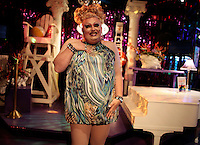 WKNpride:  CRYSTAL CITY, VA: MARAM 201799 CAPTION:  Drag Queens prepare and perform for Freddie's Follies at Freddie's in Crystal City June 01, 2008 ? Drag Queen Ophelia Bottoms receives loud cheers during the show.