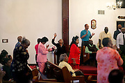 Reverend Al Green and his congregation at The Full Gospel Tabernacle in Memphis, Tennessee in October 2011.